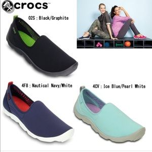 6e6b3aeae894fc CROCS Shoes - CROCS 8W Duet Busy Day Skimmer Shoe